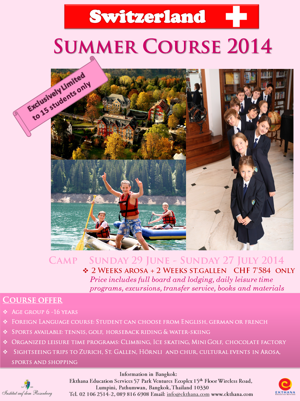 Summer Camp Switzerland